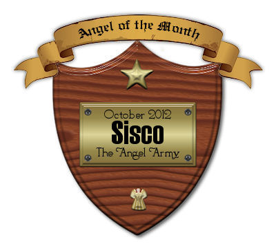 "Angel Award ""Angel of the month"" from WDC Angel Army Oct 2012"