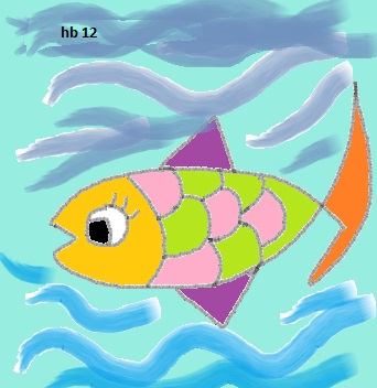 Just the little doodle of a fish for a c note!