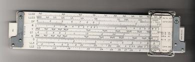 This is a picture of a slide rule