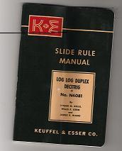 Instructions on using slide rule
