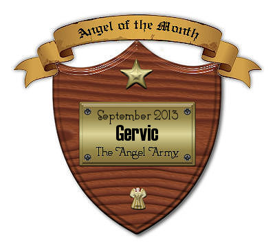 September 2013 :: Angel Of The Month Plaque