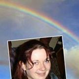 A photo of Lucy and the Rainbow which appeared on the day of her Funeral.