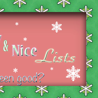 Right side of Naughty/Nice banner