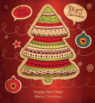 Christmas Tree Christmas Card by Aqua_Mantis