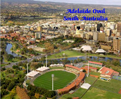 Aerial view of Adelaide Oval, South Australia