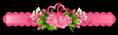 Line divider: ribbon rose