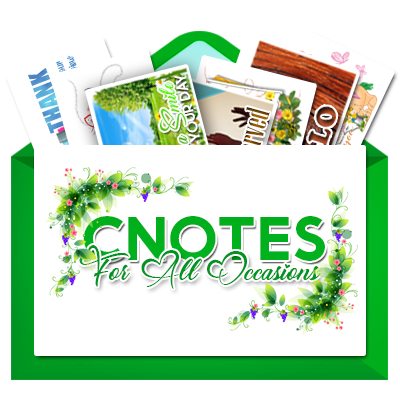 Cnotes for all occasions banner.