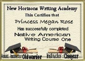 My NA Writing Class Diploma.