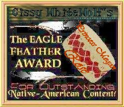 Eagle Feather NA Writing Award from Cissy.