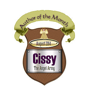 Author of the Month Award from Angel Army Group-Thank You Kiya!!! and everyone who voted.