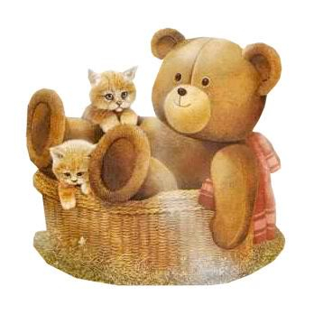 Cute Teddy Bear and kittens image from a friend.
