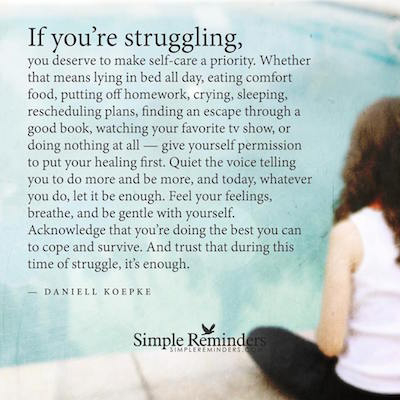 if you're struggling