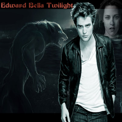Neat image of Edward, Bella and a wolf image by best friend Angel.