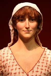 Picture of the new Jane Austen wax mannequin at The Jane Austen Center.