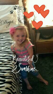 A photo of my granddaughter, Destiny!