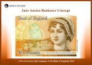 Pound note of Jane Austen.