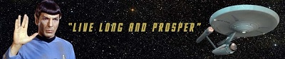 A banner for the top of a tribute poem to Spock