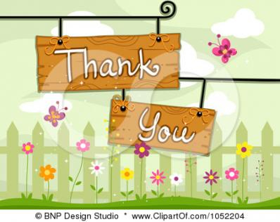 A thank you from me to you