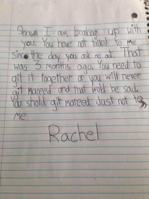 A funny letter written by a kid