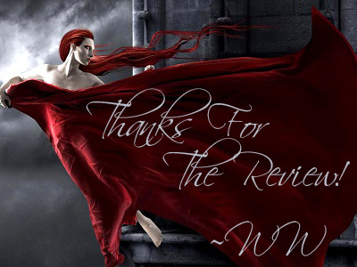 A sig created by Lorraine, to thank members for reviewing me.