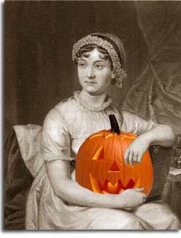 Jane Austen and Pumpkin Image. I thought this was so neat. Jane holding a pumpkin.