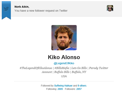 Awesome new Twitter follower.