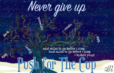 Winter Construct Cup Never Give Up logo
