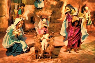 Image of the birth of Baby Jesus
