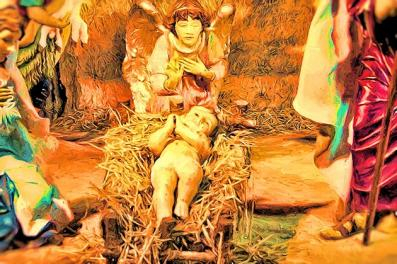 Image of Christ in the Manger