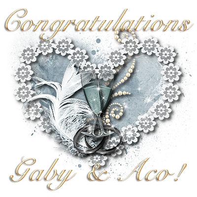 Congratulations on your marriage, Gaby & Aco!