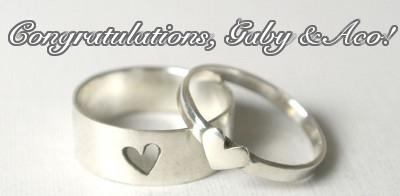 Congratulations, Gaby & Aco!
