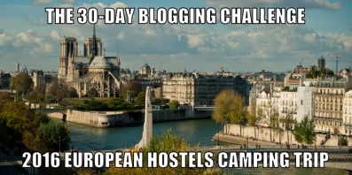 30-Day Blogging Challenge August 2016.