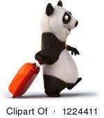 Panda on a trip