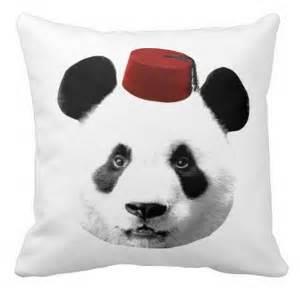 Panda in A Fez hat