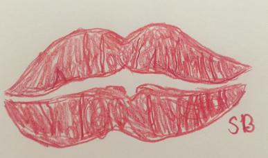 Just a pair of lips drawn from your truly.