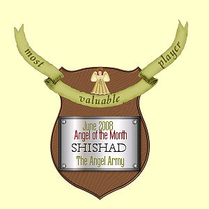 My Angel of The Month Award from The Angel Army