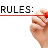 Rules with pen