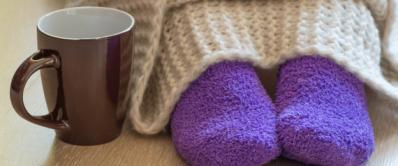 Fuzzy socks and Hot Chocolate