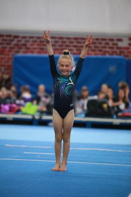 A gymnastic salute