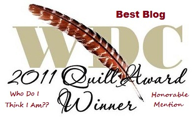 A gift from Julie D for being named Honorable Mention for Best Blog in the Quill Awards!