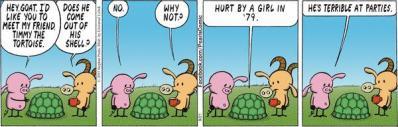 "A poignant ""Pearls Before Swine"" comic strip."