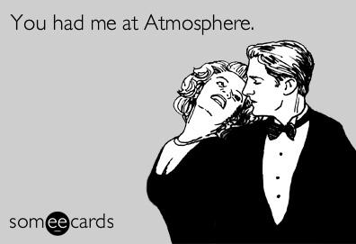 For a blog entry about Atmosphere.