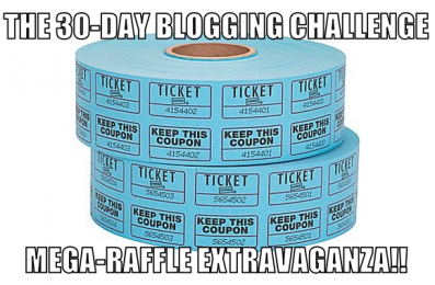 30-Day Blogging Challenge Mega-Raffle Extravaganza logo.