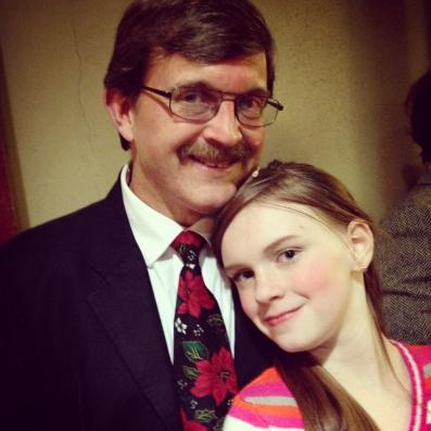 Jade & I were in Miracle on 34th Street, the Musical in December, 2014