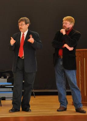 Practicing for our Christmas show of 2014, Miracle on 34th Street, the Musical...