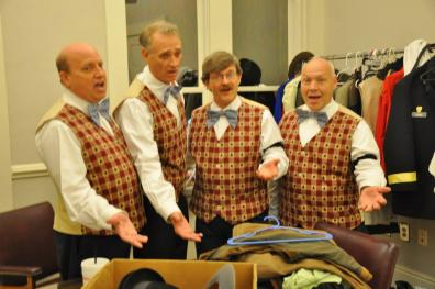 Here is the School Board Barbershop Quartet for our local show of The Music Man in 2014.