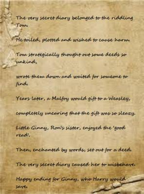 An image/poem for the Harry Potter Activity