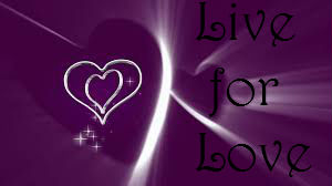 Purple background with heart