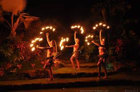 Mayan fire dancers