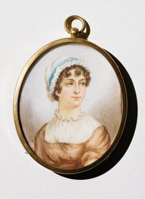 Neat Jane Austen cameo picture.